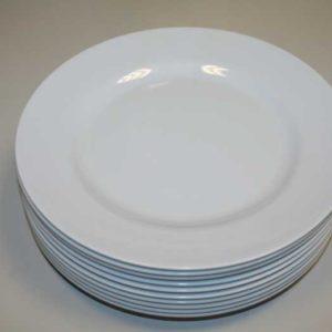 Melamin Geschirr Teller Flach – 25.5 Cm  (96 Stck.)